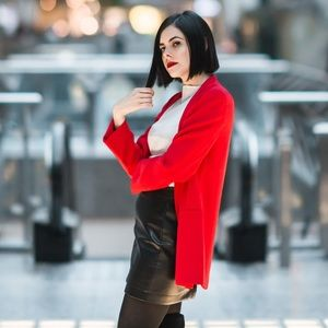 SOLD: Aritizia / Wilfred Open Front Red Blazer